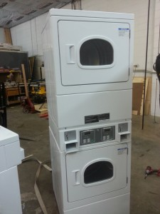 We have 2 of these Huebsch GAS coin operated dryers - stack.  They are perfect for your apartment complex or coin laundry.  Only $1,500.00 each!