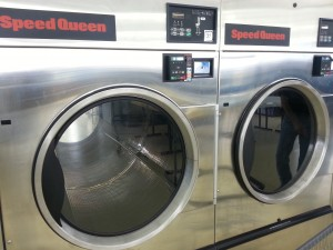 Large Coin Operated Dryers Greet Customers with an Air of Industrial Sophistication.