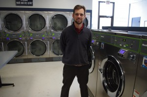 Owner JD Dixon proudly displays some fantastic Huebsch commercial laundry equipment at his store in Dickson, TN.