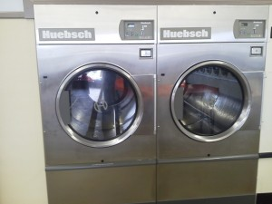 Aren't these 75 lbs. dryers beautiful! The stainless steel baskets make them look so deep!