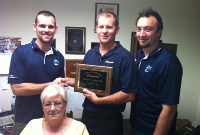 Service Department Wins the 2010 Huebsch Service Excellence Award
